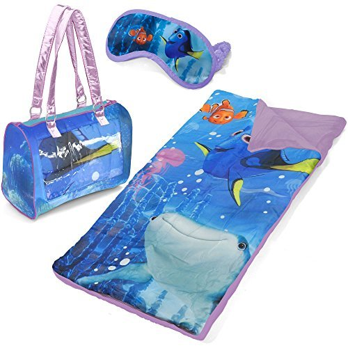 Finding Dory Kids Sleepover Purse Set Girls 3 Piece Set Including Sleeping Bag