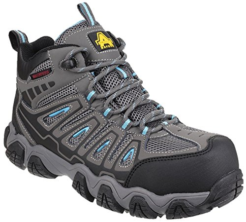 Metal Hiker Ladies Amblers Safety Grey Waterproof AS802 Non CcqFt