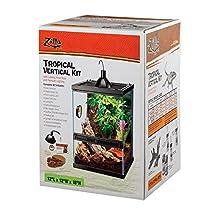 ZILLA 100528750 Reptile Terrariums Tropical Vertical Kit with Mini Halogen Lighting