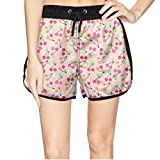 Women's Love Cherries Red Sweet Fruit Cherry Quick Dry Beach Shorts Swim Trunk