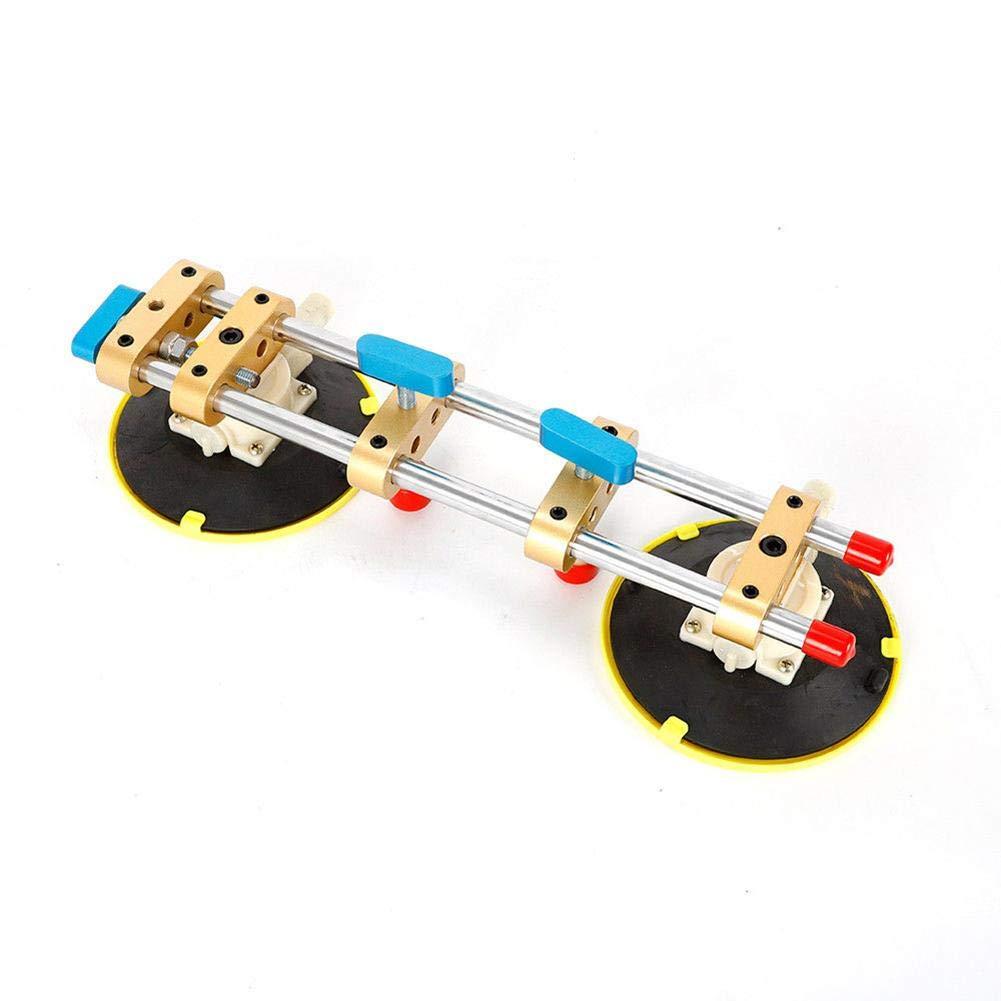 Zhuotop 15,2 cm Steinnaht Setter für Nahtverbindung, Nivellierstein Kleber Werkzeug Saugnapf verstellbar, mehrfarbig