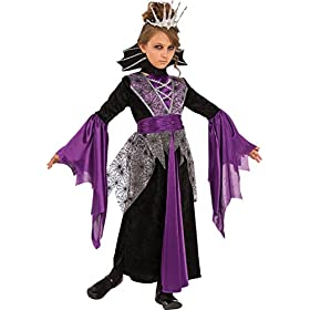 - 51X1XHStG2L - Rubie's Costume Child's Queen Vampire Costume, Large, Multicolor