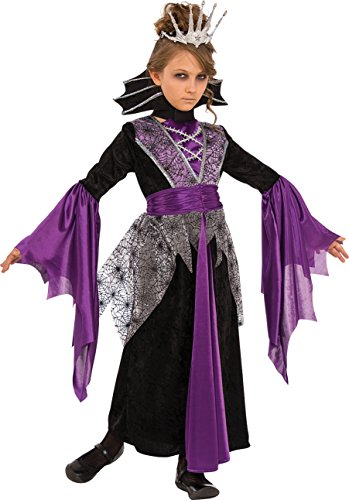 Rubies Costume Child's Queen Vampire Costume, Medium, Multicolor - Child Spider Queen Costume