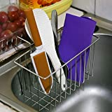 Sponge Holder,Disumos Sink Caddy Kitchen Brush Soap