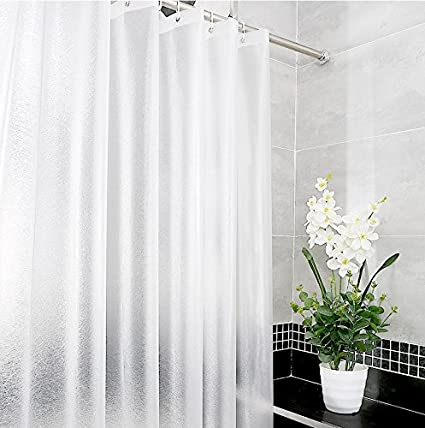 Eforgift Waterproof Shower Curtain Liner EVA Anti Mildew Semi Transparent  With 3 Weighted Magnets