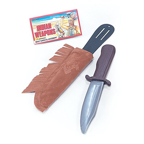 (Bristol Novelty BA670 Native American Dagger in Sheath, Unisex-Child, One)
