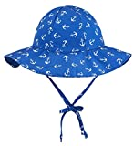 SimpliKids UPF 50+ UV Sun Protection Wide Brim Baby Sun Hat,Anchors,0-12 Months