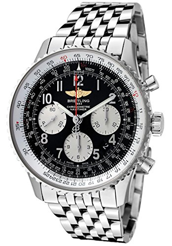 Breitling Navtimer 01 Black Dial Chronograph Automatic Mens Watch AB012012-BB02BKLD