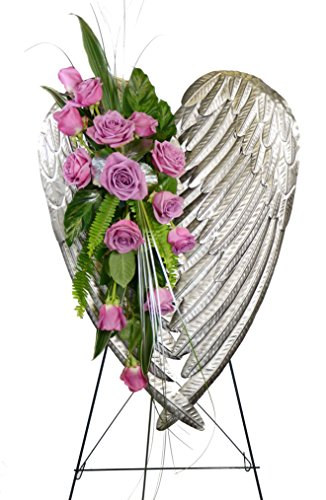 McShan Wings of Love Easel in Lavendar Roses - Fresh and Hand Delivered - Dallas Area