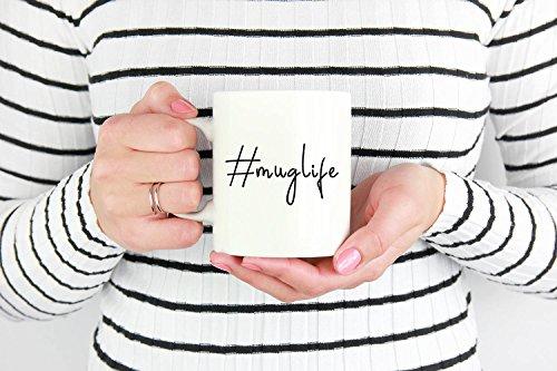 Hilarious 11 oz Hashtag mug life coffee mug 15 oz hashtag ceramic mug thug life parody silly humorous friend coworker gift funny - Life Parody Thug