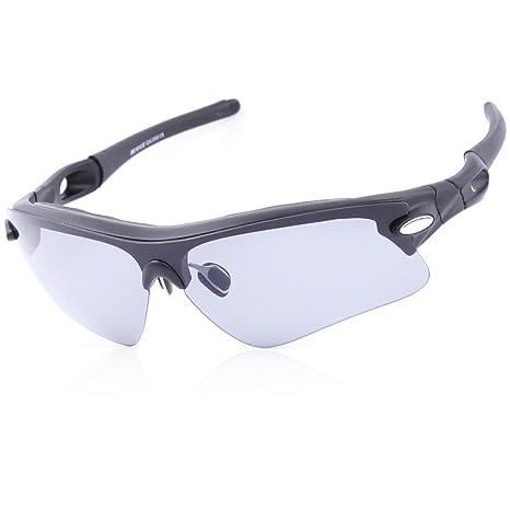 Dice Sport Occhiali da sole occhiali UV 400protezione per uomo e donna, black mat/grey
