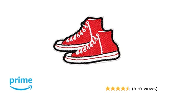 6a08837e9f94 Amazon.com  U-Sky Sew or Iron on Patches - Red Canvas Shoes Patch - Pack of  3pcs  Jerrmy  Home   Kitchen