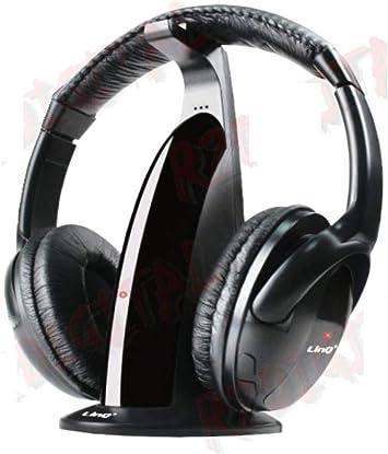 Auriculares inalambricos 5 en 1 para HDTV, TV, VCD, PC, MP3, MP4, CD, DVD Smartphone con Radio FM: Amazon.es: Electrónica
