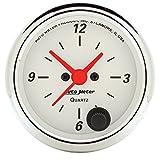 Auto Meter 1385 Arctic White Clock