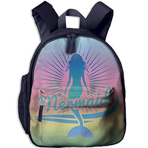 Kindergarten Boys Girls Backpack Mermaid School Bag -