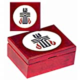 CH-1066-BoxS Presbyterian Cherry Wood Keepsake Box with Presbyterian Cross Medallion