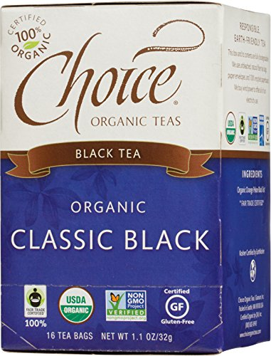 Choice Organic Teas Black Tea, 16 Tea Bags, Classic Black