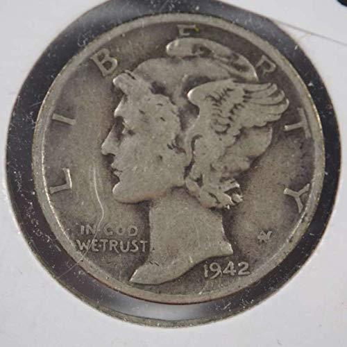 - 1942 S Mercury Dime Silver Dimes Ungraded