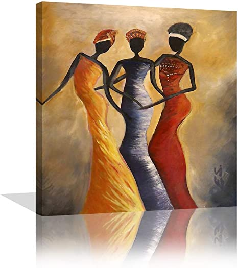 C Home Decor African American Woman Art//Canvas Print Poster Wall Art
