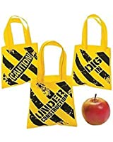 Construction Zone Mini Tote Bags - Party Supplies (24 PACK)