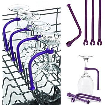 Amazon.com: Universal lavaplatos cesta de vino rack (8 Gafas ...