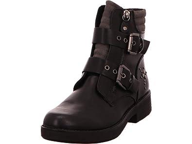 3675b2f1921 MARCO TOZZI 2-25800 Womens Black Biker Boot 4: Amazon.co.uk: Shoes ...