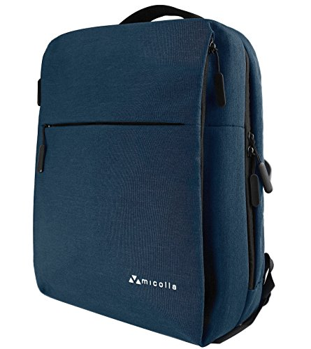 Backpack for men & women Travel Laptop Reinforced Top Handle, Durable Zippers, Ergonomic & Padded Pockets, Double Stitching – For Business, College, School Students, Sports, Hiking & More by Less is more