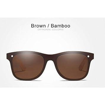 CAGSQ Gafas De Sol Gafas De Sol Polarizadas De Bambú para ...