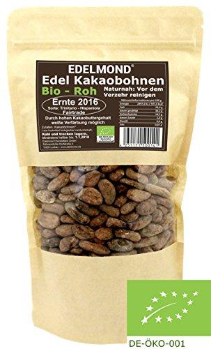 Rohe Kakaobohnen -Bio & Fair- Edelmond 500g Ernte 2016 frisch vom Bauern