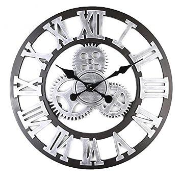8360b925c04 Alicemall Pendule Murale Décoration Industrielle Design Horloge Murale Style  Vintage (6)