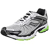 Saucony Men's ProGrid Ride 3 Running Shoe,White/Black/Slime Green,9.5 M US