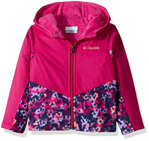 Columbia Toddler Girls' Steens Mt Overlay Hoodie, Deep Blush Floral Camo, 4T