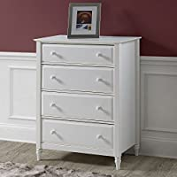 Adeptus 78105 Cottage Single Drawer End Table/Nightstand Solid Wood, White