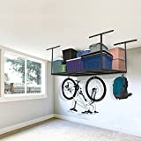 FLEXIMOUNTS 3x6 Overhead Garage Storage Adjustable Ceiling Storage Rack, 72'' Length x 36'' Width x 40'' Height, Black
