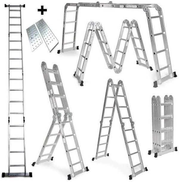 Grandmaster - Escalera De Aluminio Plegable 475cm, Escalera ...