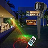 Outdoor Lights GDF20RGB 8W Life Waterproof 20 in 1 Patterns Outdoor Lawn Yard Garden Decorative Projector Lamp with Remote Controller Garden Lights