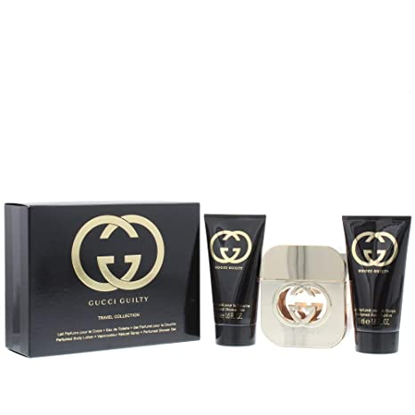 b5faa5d3e61 Gucci Guilty Eau de Toilette Spray 50 ml Body Lotion 50 ml Shower Gel 50  ml  Amazon.co.uk  Beauty