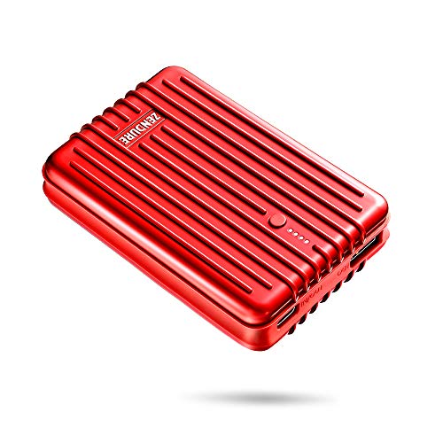 Zendure A3TC 10000mAh USB-C Portable Charger, Ultra-Durable Power Bank with 3A Output, Zen+ Technology External Battery for iPhone X / 8 Plus, iPad Pro/Air 2, Samsung Galaxy S9 Plus and More - Red