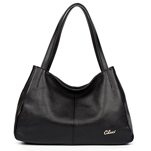 Handbags Satchel Cluci Tote Designer Women Top Purse Leather Bags Genuine 1 black handle Shoulder pwx6gwq