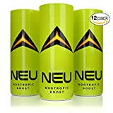 12 Shots of Extra Strength Nootropic Energy Boosts - 800mg Tyrosine, 500mg Carnitine, 300mg AlphaSize Alpha GPC, 250mg L-Theanine, 250mg Organic Caffeine, B12 - Made in USA