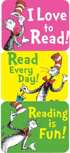 Eureka Cat in The Hat Reading Stickers