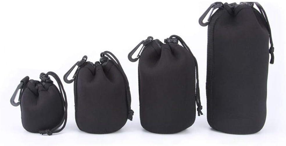Guangcailun 1//4 Pezzi Camera Lens protecte Pouch Small//Medium//Large//Extra Large Bag