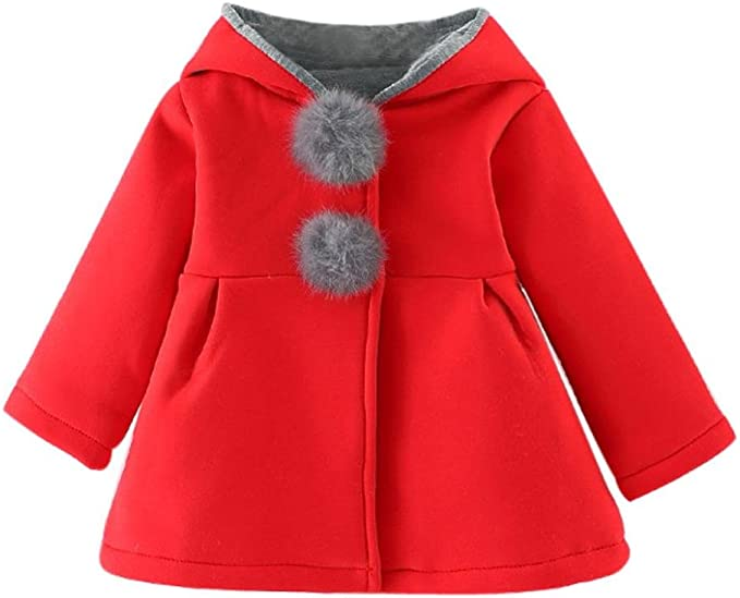 Amlaiworld Abrigos Bebé, Bebés niñas otoño Invierno Abrigo Chaqueta Gruesa Ropa Caliente 0-4 Años: Amazon.es: Ropa y accesorios