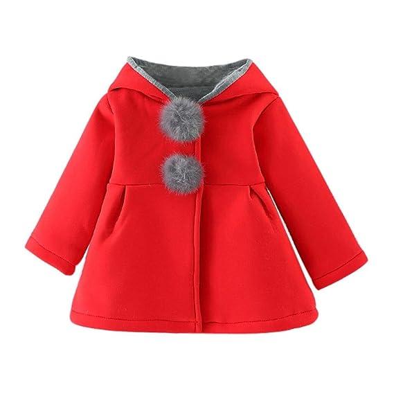 Abrigos Bebé, Bebés niñas otoño Invierno Abrigo Chaqueta Gruesa Ropa Caliente 0-4 Años