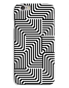 Black and Whire Optical Illusion iPhone 6 Plus Hard Case Cover