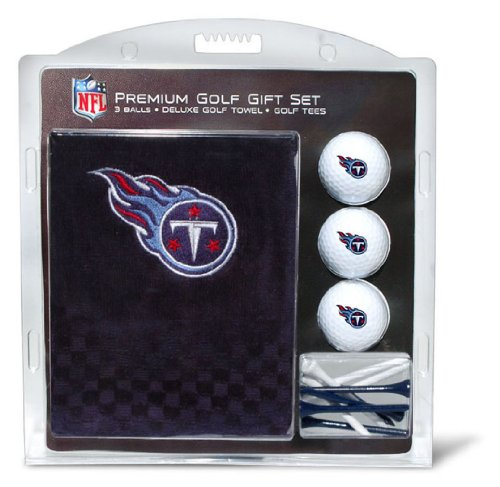 (Team Golf NFL Tennessee Titans Gift Set Embroidered Golf Towel, 3 Golf Balls, and 14 Golf Tees 2-3/4