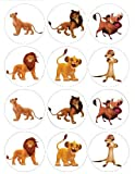 Single Source Party Supply - Lion King Cupcakes Edible Icing Image #1
