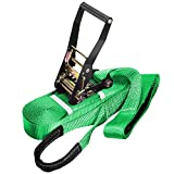 """WYZworks Slackline 49' feet (15m) x 2"""" inch (Green, Red, Purple, Blue, Yellow or Lighting) with Free Carry Bag"""