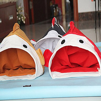 Quick shopping Ocean Fish Style Cutie Kitty Sleeping Bag Bed for Pets Dogs (Assorted colors) , gold , S