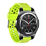 YJYdada Silicone Bracelet Strap Watch Band for Samsung Gear S3 Frontier Classic 22mm (Green)